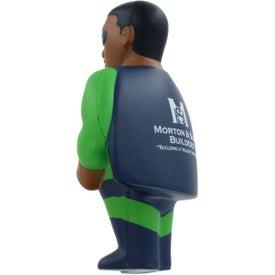 Logo African American Super Hero Stress Ball