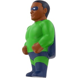 African American Super Hero Stress Ball Printed with Your Logo
