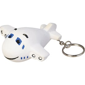 Airplane Key Chain Stress Ball (Economy)