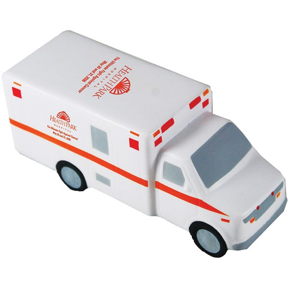 White Ambulance Stress Reliever