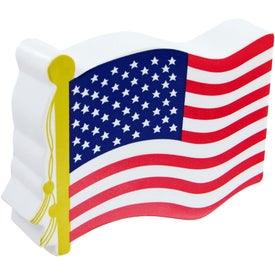 Imprinted American Flag Stress Toy