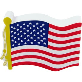 Monogrammed American Flag Stress Toy