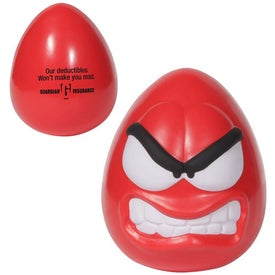Imprinted Angry Mood Maniac Wobbler Stress Ball
