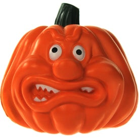 Personalized Angry Pumpkin Stress Ball