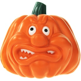 Angry Pumpkin Stress Ball Branded with Your Logo