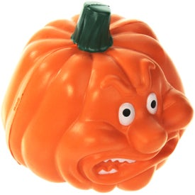 Angry Pumpkin Stress Ball with Your Logo