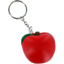 Apple Key Chain Stress Ball for Promotion