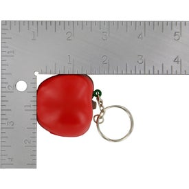 Personalized Apple Key Chain Stress Ball