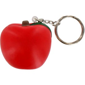 Printed Apple Key Chain Stress Ball