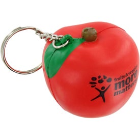 Apple Keychain Stress Toy with Your Logo