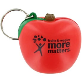 Imprinted Apple Keychain Stress Toy