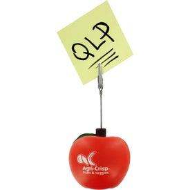 Promotional Apple Stress Ball Memo Holder