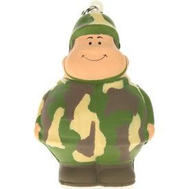 Custom Army Bert Stress Reliever Keyring