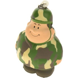 Imprinted Army Bert Stress Reliever Keyring