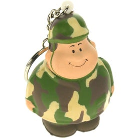 Army Bert Stress Reliever Keyring Printed with Your Logo