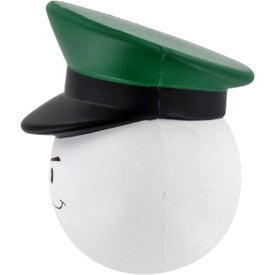 Army Officer Mad Cap Stress Ball with Your Logo
