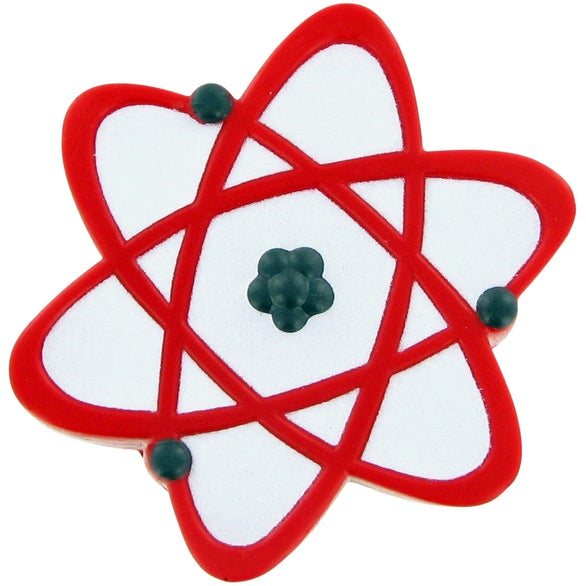Red / White Atomic Symbol Stress Ball