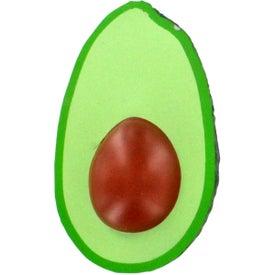 Avocado Stress Ball Imprinted with Your Logo