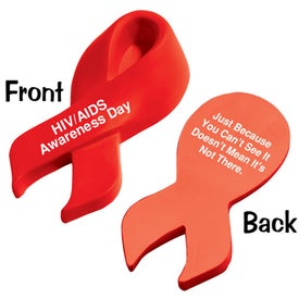 Branded Awareness Ribbon Stress Relievers