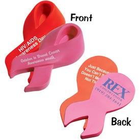 Customized Awareness Ribbon Stress Relievers