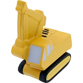 Monogrammed Backhoe Stress Toy
