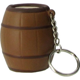 Imprinted Barrel Key Ring Stress Reliever
