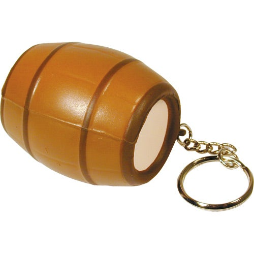 Light Brown Barrel Key Ring Stress Reliever