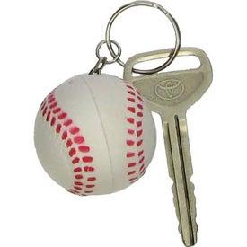 Imprinted Baseball Key Chain Stress Ball
