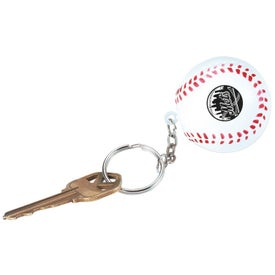 Baseball Key Chain Stress Ball (Economy)
