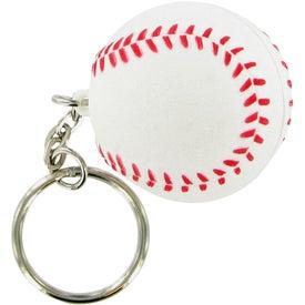 Baseball Keychain Stress Toy for Your Organization