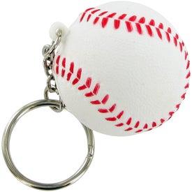 Custom Baseball Keychain Stress Toy