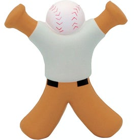 Baseball Bat Man Stress Reliever for Customization