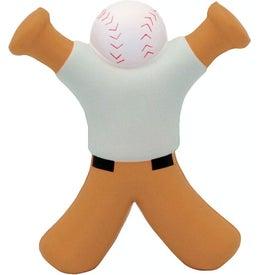Baseball Bat Man Stress Reliever for Customization
