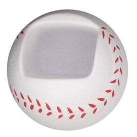 Promotional Baseball Shaped Cell Phone Holder Stress Ball