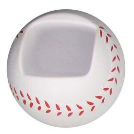 Promotional Baseball Shaped Cell Phone Holder Stress Ball