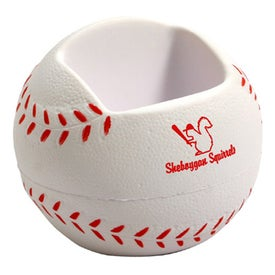 Baseball Shaped Cell Phone Holder Stress Ball
