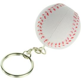 Baseball Key Chain Stress Ball for Customization