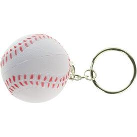 Personalized Baseball Key Chain Stress Ball
