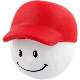 Monogrammed Baseball Mad Cap Stress Ball