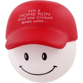 Custom Baseball Mad Cap Stress Ball