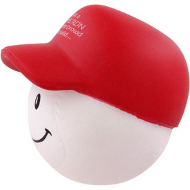 Baseball Mad Cap Stress Ball with Your Logo