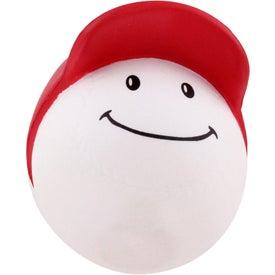 Printed Baseball Mad Cap Stress Ball