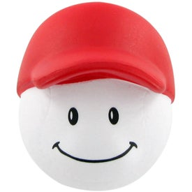 Imprinted Baseball Mad Cap Stress Ball