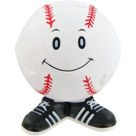 Printed Baseball Man Stress Toy