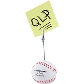 Baseball Memo Holder Stress Ball for Advertising