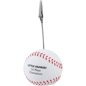 Baseball Memo Holder Stress Ball Printed with Your Logo