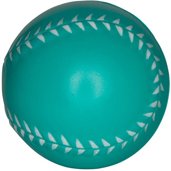 Teal Baseball Stress Reliever