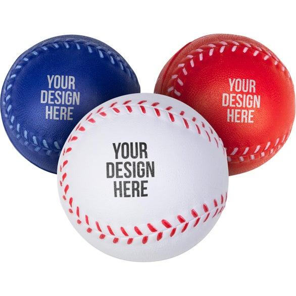 Custom baseball stress ball