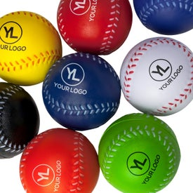 Custom Baseball Stress Ball Printed with Your Logo