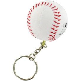Advertising Baseball Stress Reliever Keyring